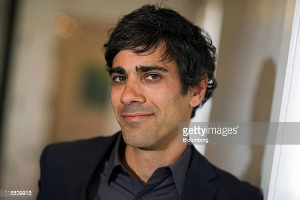 Jeremy Stoppelman, co-founder and chief executive officer of Yelp Inc., stands for a photograph after a Bloomberg via Getty Images West television...