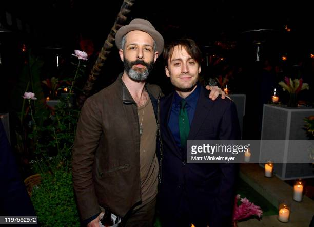 Jeremy Strong and Kieran Culkin attend Vanity Fair Amazon Studios and Audi Celebrate The 2020 Awards Season at San Vicente Bungalows on January 04...