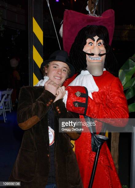 Jeremy Sumpter and Capt Hook during Snow White An Enchanting New Musical Premiere Party at Fantasyland Theatre at Disneyland in Anaheim California...