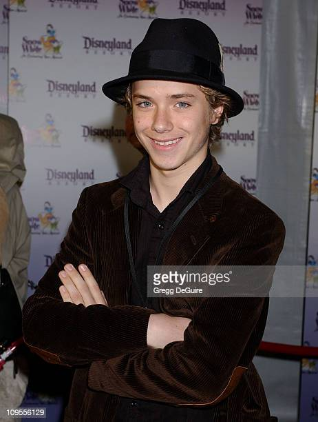Jeremy Sumpter during Snow White An Enchanting New Musical Premiere Arrivals at Fantasyland Theatre at Disneyland in Anaheim California United States