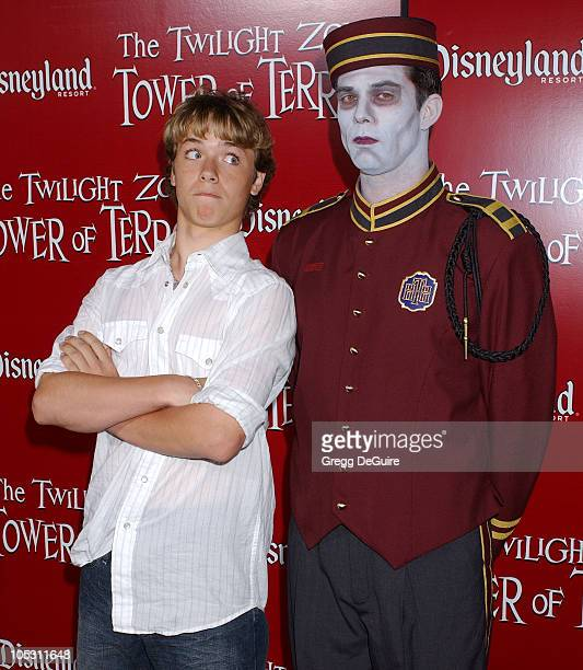 Jeremy Sumpter during The Twilight Zone Tower of Terror Opens at Disney's California Adventure at California Adventure in Anaheim California United...