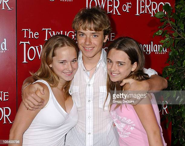 Jeremy Sumpter with sisters Jessica and Gigi during The Twilight Zone Tower of Terror Opens at Disney's California Adventure at California Adventure...