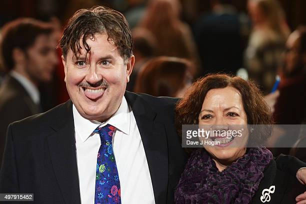 Jeremy Swift and Mary Roscoe attend the ITV Gala at London Palladium on November 19 2015 in London England