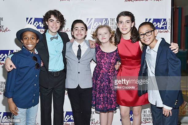 Jeremy T Villas Aidan Gemme Joshua Colley Milly Shapiro Mavis SimpsonErnst and Gregory Diaz attend You're A Good Man Charlie Brown Opening Night...