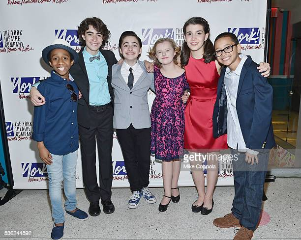 Jeremy T Villas Aidan Gemme Joshua Colley Milly Shapiro Mavis SimpsonErnst and Gregory Diaz attend 'You're A Good Man Charlie Brown' Opening Night...