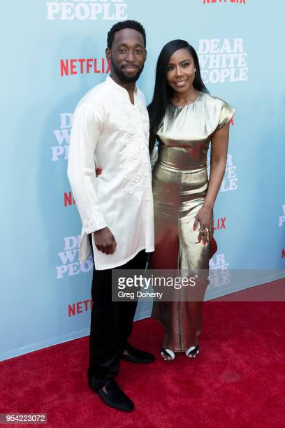 Jeremy Tardy and Nia Jervier attends the Dear White People Season 2 Special Screening on May 2 2018 in Hollywood California