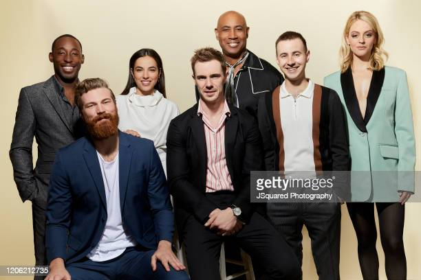 Jeremy Tardy Derek Theler Cristina Rodlo Sam Keeley Lamont Thompson Nicholas Coombe and Gage Golightly of '68 Whiskey' poses for a portrait at the...