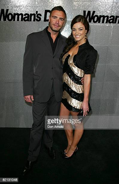 Jeremy Taylor and KirstyLee Allan attends the Women's Day 60th Anniversary Celebrations at the Glass Brasserie on July 31 2008 in Sydney Australia