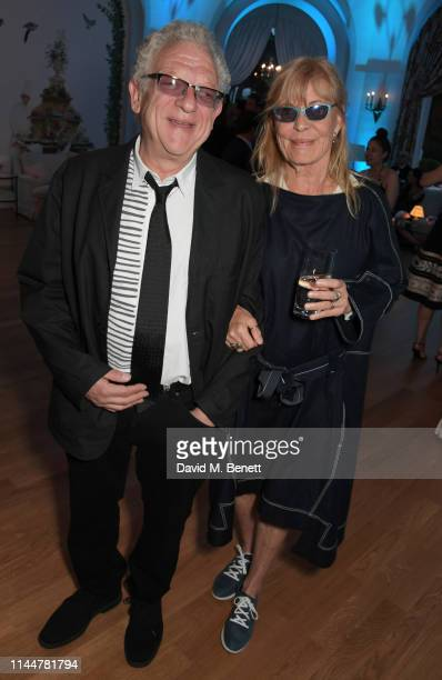 Jeremy Thomas and guest attend the Vanity Fair party celebrating the 72nd Annual Cannes Film Festival at Hotel du CapEdenRoc on May 18 2019 in Cap...