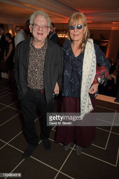 Jeremy Thomas and Ludovica Barassi attend the BFI Chairman's dinner awarding Tilda Swinton with a BFI Fellowship at Rosewood London on March 2 2020...