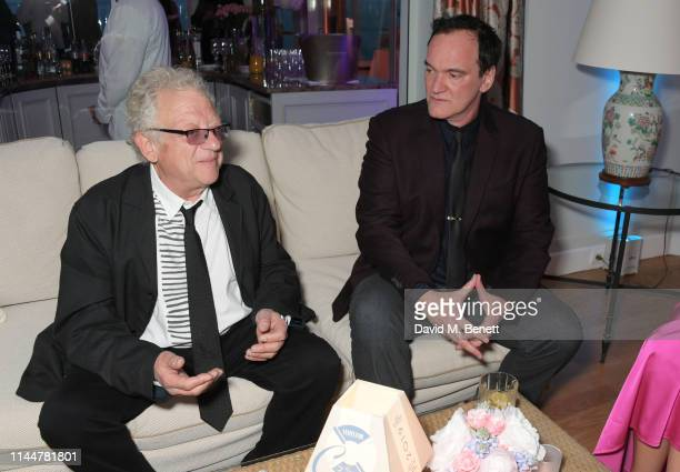 Jeremy Thomas and Quentin Tarantino attend the Vanity Fair party celebrating the 72nd Annual Cannes Film Festival at Hotel du CapEdenRoc on May 18...