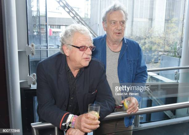 Jeremy Thomas and Stephen Frears attend the BFI Southbank's tribute to Sir John Hurt on June 25 2017 in London England