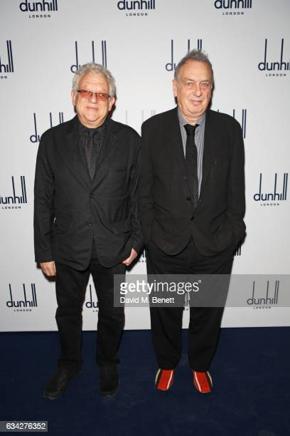 Jeremy Thomas and Stephen Frears attend the dunhill and Dylan Jones preBAFTA dinner and cocktail reception celebrating Gentlemen in Film at Bourdon...
