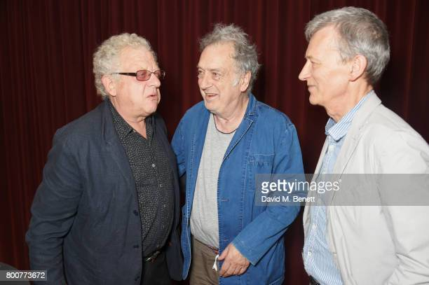 Jeremy Thomas Stephen Frears and Duncan Kenworthy attend the BFI Southbank's tribute to Sir John Hurt on June 25 2017 in London England