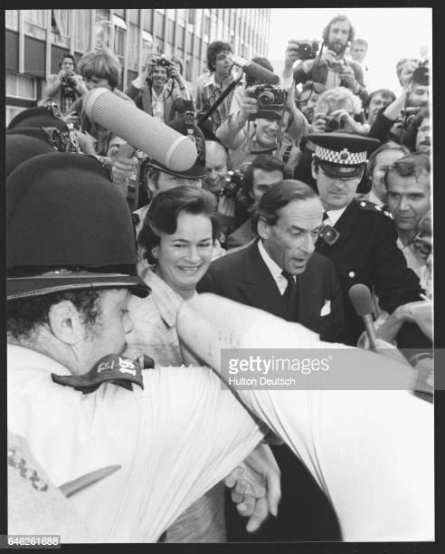 Jeremy Thorpe and his wife leave the Old Bailey after he is found not guilty of conspiring to murder former male model Norman Scott with three other...