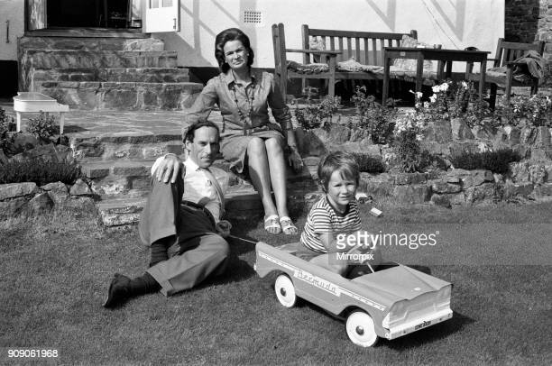 Jeremy Thorpe his second wife Marion and his four year old son Rupert pictured at his cottage near Barnstaple 12th September 1973