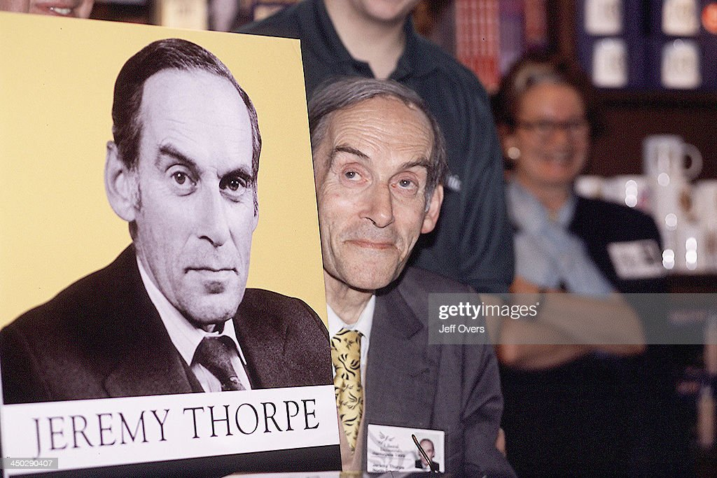 Jeremy Thorpe Liberal Democrats 1999 Book Signing : News Photo