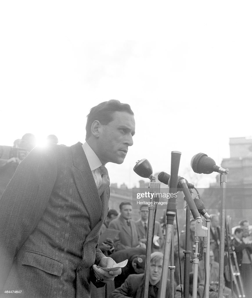 Jeremy Thorpe, Liberal MP, at a Boycott South African Goods Rally, London, 28 Feb 1960. Artist: Henry Grant : News Photo