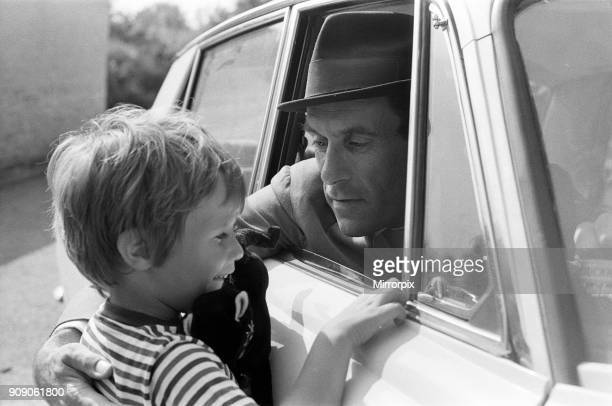 Jeremy Thorpe with his four year old son Rupert pictured near his cottage near Barnstaple 12th September 1973