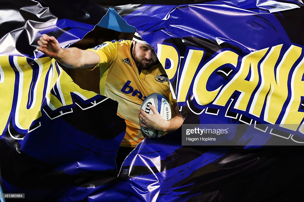 Jeremy Thrush of the Hurricanes takes the field during the round 17 Super Rugby match between the Hurricanes and the Crusaders at Westpac Stadium on June 28, 2014 in Wellington, New Zealand.