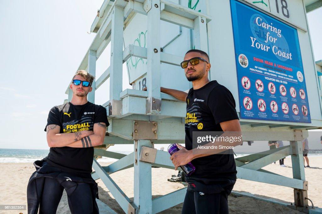 Jeremy Toljan and Maximilian Philipp of Borussia Dortmund at the ...
