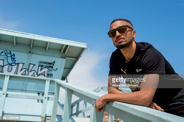 Jeremy Toljan of Borussia Dortmund at the Venice Beach during Borussia Dortmund's USA Training Camp in the United States on May 21 2018 in Los...