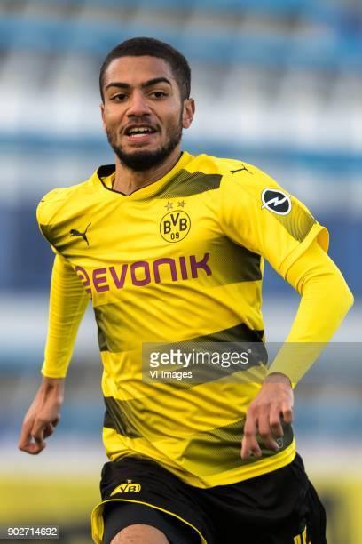 Jeremy Toljan of Borussia Dortmund during the friendly match between Borussia Dortmund and Zulte Waregem at the Estadio Municipal Marbella on January...