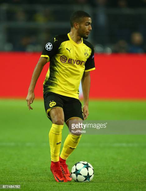 Jeremy Toljan of Borussia Dortmund during UEFA Champion League Group H Borussia Dortmund between Tottenham Hotspur played at Westfalenstadion...