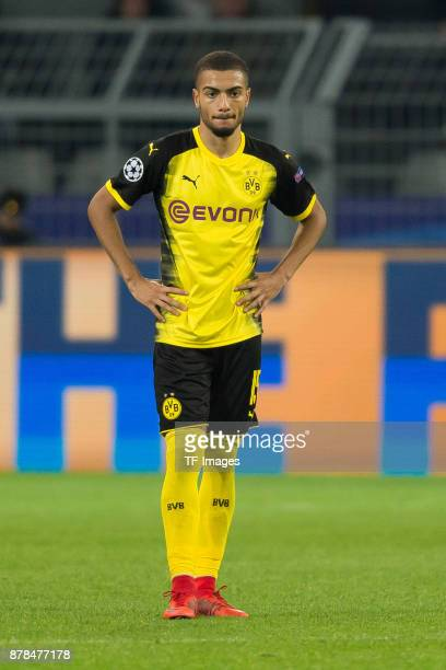 Jeremy Toljan of Borussia Dortmund looks on during the UEFA Champions League group H match between Borussia Dortmund and Tottenham Hotspur at Signal...