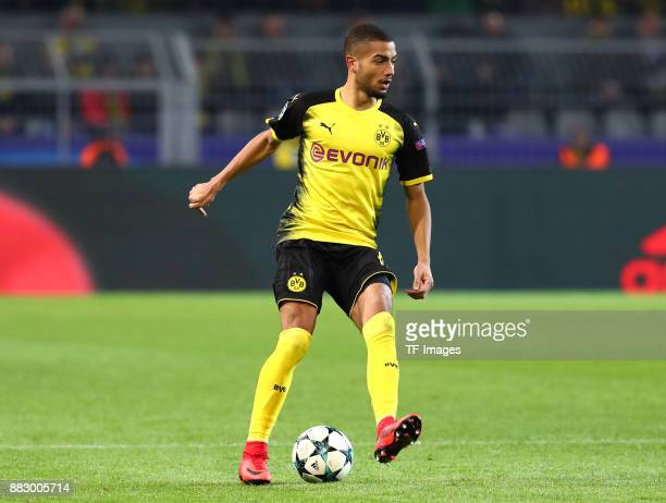 Jeremy Toljan of Dortmund controls the ball during the UEFA Champions League group H match between Borussia Dortmund and Tottenham Hotspur at Signal...