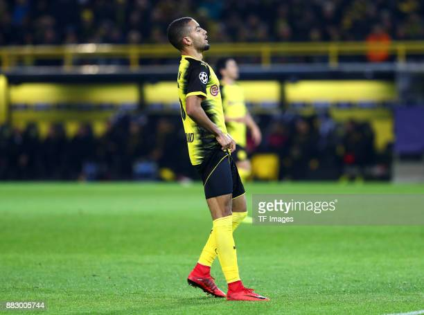 Jeremy Toljan of Dortmund looks dejected during the UEFA Champions League group H match between Borussia Dortmund and Tottenham Hotspur at Signal...