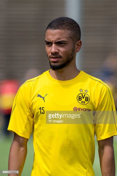 Jeremy Toljan of Dortmund looks on during a training session at BVB trainings center on July 9 2018 in Dortmund Germany