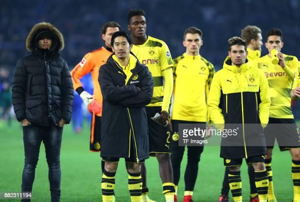 Jeremy Toljan of Dortmund Shinji Kagawa of Dortmund DanAxel Zagadou of Dortmund Maximilian Philipp of Dortmund Raphael Guerreiro of Dortmund Andre...