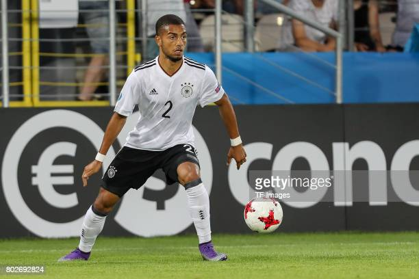 Jeremy Toljan of Germany in action during the UEFA U21 championship match between Italy and Germany at Krakow Stadium on June 24 2017 in Krakow Poland