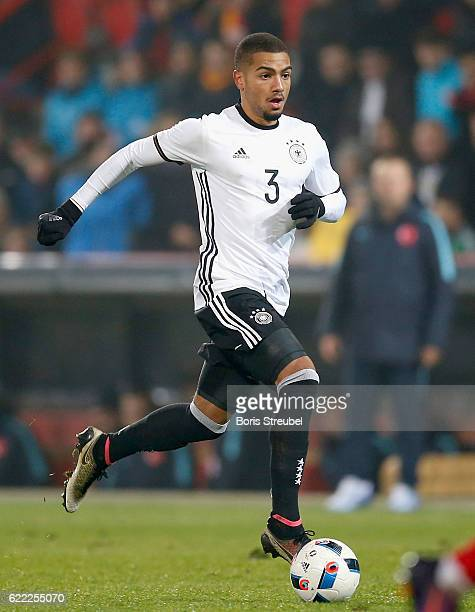 Jeremy Toljan of Germany runs with the ball during the U21 International Friendly match between U21 Germany and U21 Turkey at Stadion An der Alten...
