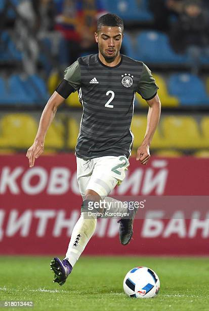 Jeremy Toljan of Germany U21 in action during the 2017 UEFA European U21 Championships qualifier match between Russia U21 and Germany U21 at Olimp 2...