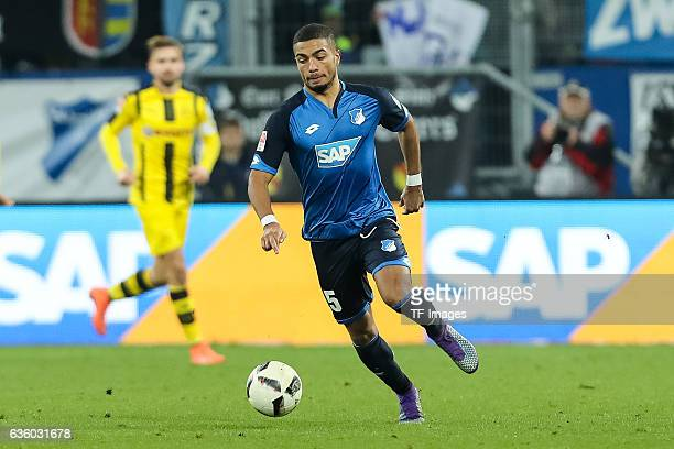 Jeremy Toljan of Hoffenheim in action during the Bundesliga match between TSG 1899 Hoffenheim and Borussia Dortmund at Wirsol RheinNeckarArena on...