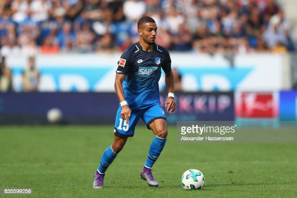 Jeremy Toljan of Hoffenheim runs with the ball during the Bundesliga match between TSG 1899 Hoffenheim and SV Werder Bremen at Wirsol...