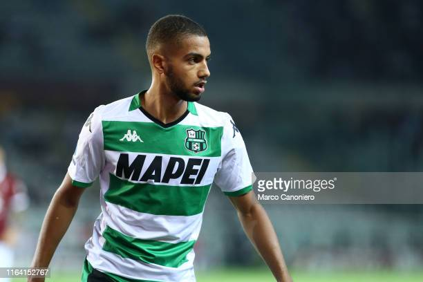 Jeremy Toljan of Us Sassuolo Calcio during the the Serie A match between Torino Fc and Us Sassuolo Calcio Torino Fc wins 21 over Us Sassuolo Calcio