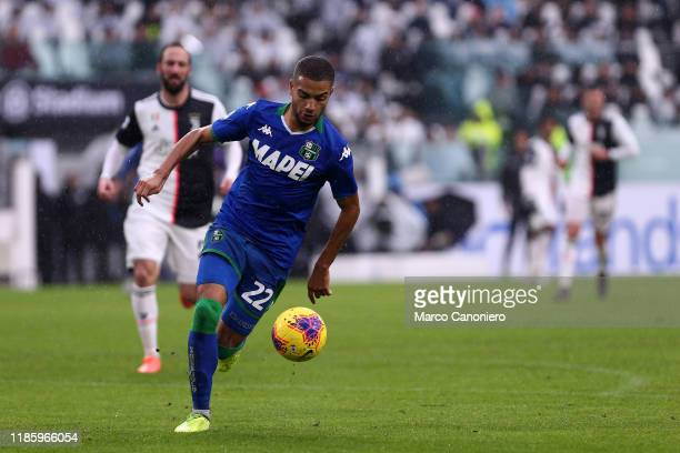 Jeremy Toljan of Us Sassuolo Calcio in action during the the Serie A match between Juventus Fc and Us Sassuolo Calcio The match end in a tie 22