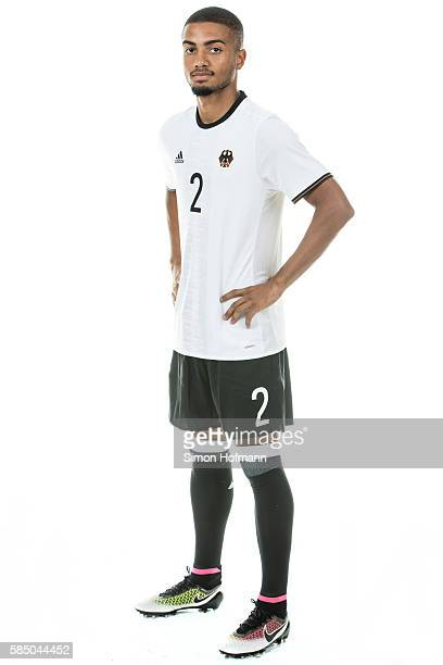 Jeremy Toljan poses during the German Olympic Football Team Photocall on July 30 2016 in NeuIsenburg Germany