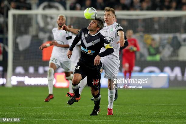 Jeremy Toulalan of Bordeaux in action during the Ligue 1 match between FC Girondins de Bordeaux and AS SaintEtienne at Stade Matmut Atlantique on...