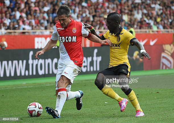 Jeremy Toulalan of Monaco in action during the French Ligue 1 match between AS Monaco FC and LOSC Lille at Louis II Stadium on August 30 2014 in...