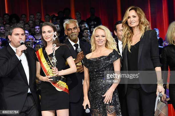Jeremy Urbain Top models 2017 awarded model Manon Louvrier Satya Oblette Pamela Anderson Adriana Karembeu and guests attend the 'Top Model Belgium...