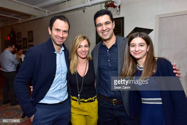 Jeremy Venkiewicz Silvina Della Motta Author Chris Babu and Lily Babu attend 'The Initiation' Book Launch at Bouley TK on March 15 2018 in New York...