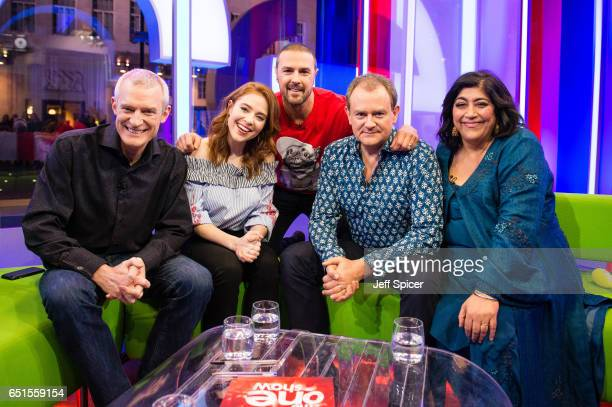 Jeremy Vine Angela Scanlon Paddy McGuinness Hugh Bonneville and Gurinder Chadha Comedian Paddy McGuinness raises money for Comic Relief by appearing...