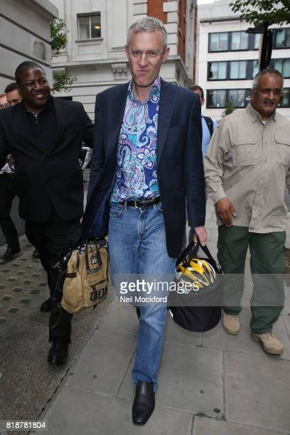 Jeremy Vine seen leaving the BBC Radio 2 Studios on July 19 2017 in London England