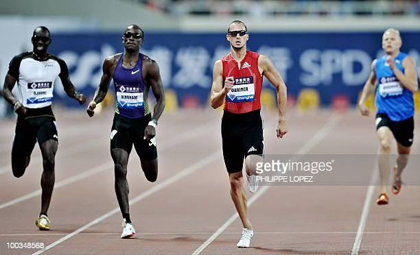 Jeremy Wariner of the USA competes to win the 400m event during the Shanghai IAAF Diamond league athletics meeting in Shanghai on May 23 2010 The...