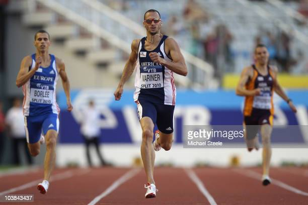 Jeremy Wariner of USA and Team Americas wins the men's 400m during the IAAF/VTB Continental Cup at the Stadion Poljud on September 4 2010 in Split...