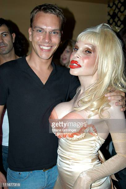 Jeremy White and Amanda Lepore during Amanda LaPore Debuts Her New Single 'Champagne' at Plaid in New York City New York United States